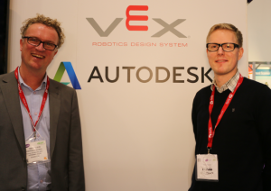 Ronald Scheer and Tomas Karlsson form Autodesk Education